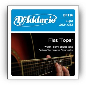 Struny D'Addario EFT16 Flat Tops, Light, 12-53