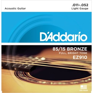 Struny D'Addario EZ910 Great American Bronze Extra Light 11-52