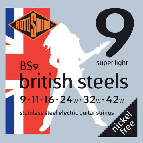 Struny Rotosound British Steels Electric Super Light 9-42 (BS9)