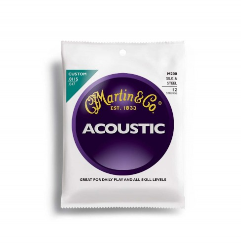 Struny Martin Acoustic Silk&Steel Traditional 12-string 11.5-47 M200