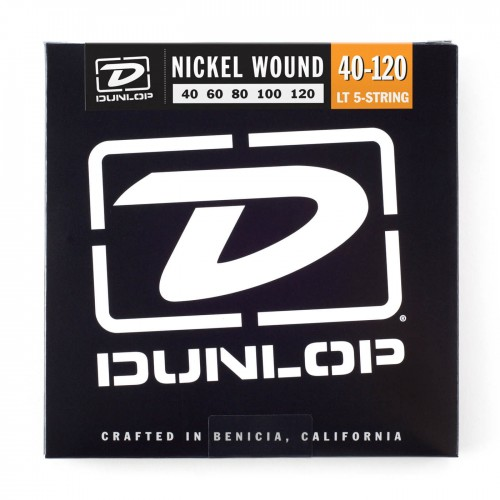 Struny Dunlop Nickel Plated Bass 5 40-120 DBN40120