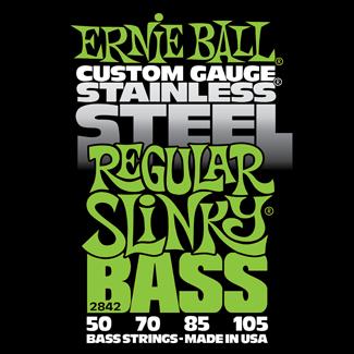Struny Ernie Ball Stainless Steel Regular Slinky Bass 50-105 (2842)