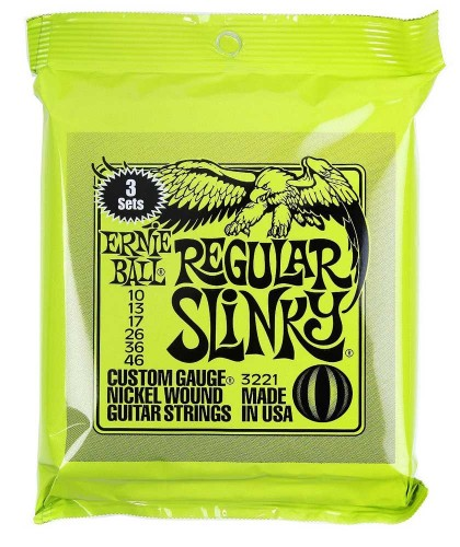 3PACK Struny Ernie Ball Regular Slinky Nickel Wound 10-46