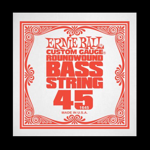 Struna .045 do gitary basowej Ernie Ball Bass Roundwound 1645