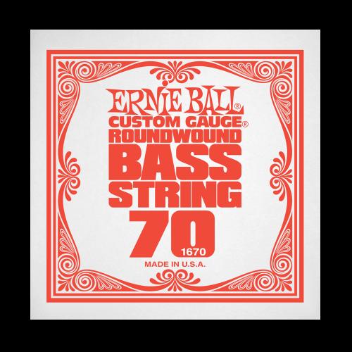 Struna .070 do gitary basowej Ernie Ball Bass Roundwound 1670
