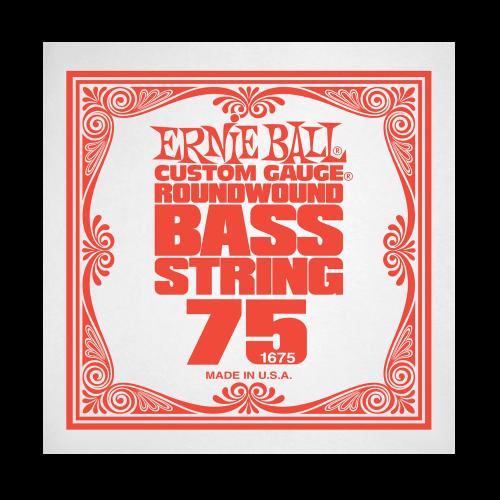 Struna .075 do gitary basowej Ernie Ball Bass Roundwound 1675