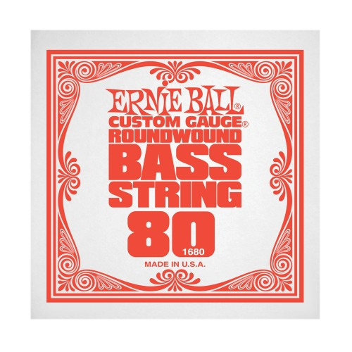 Struna .080 do gitary basowej Ernie Ball Bass Roundwound 1680