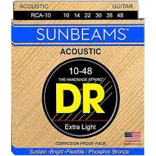 Struny DR Sunbeams™ Acoustic Phosphor Bronze Extra Light 10-48 (RCA-10)
