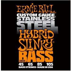 Struny Ernie Ball Stainless Steel Hybrid Slinky Bass 45-105 (2843)