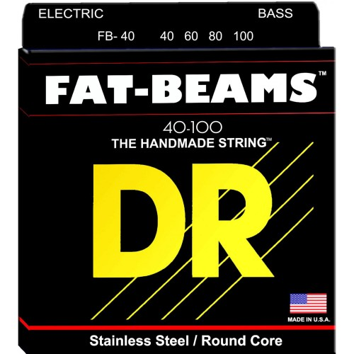 Struny DR Fat-Beams Bass Stainless Steel Round Core 40-100 (FB-40)