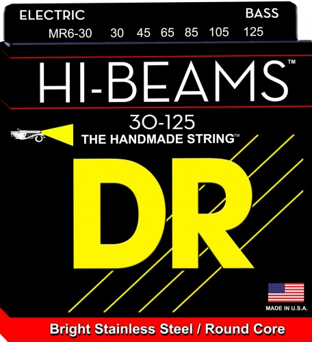Struny DR Hi-Beams™ Stainless Steel Round Core 30-125 (MR6-30)