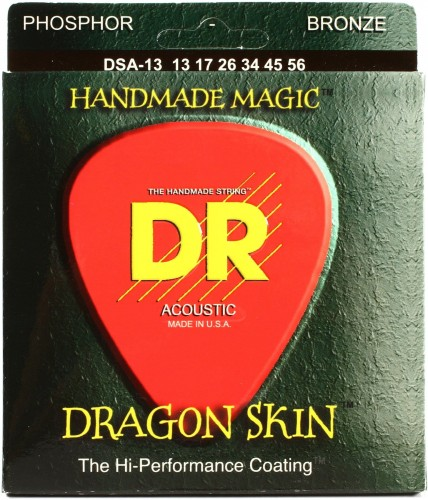 Struny DR Dragon Skin Hard Coated Acoustic Phosphor Bronze 13-56 (DSA-13)