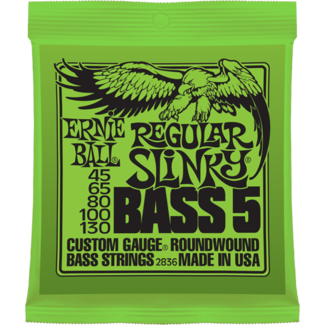 Struny Ernie Ball Regular Slinky 5-string Bass Nickel Wound 45-130 (2836)