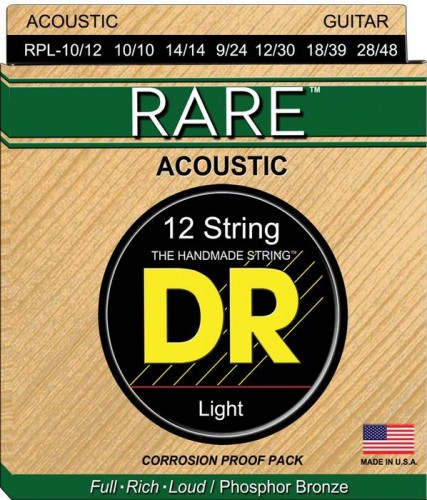 Struny DR Rare Acoustic Phosphor Bronze 12-string 10-48 (RPL-10/12)