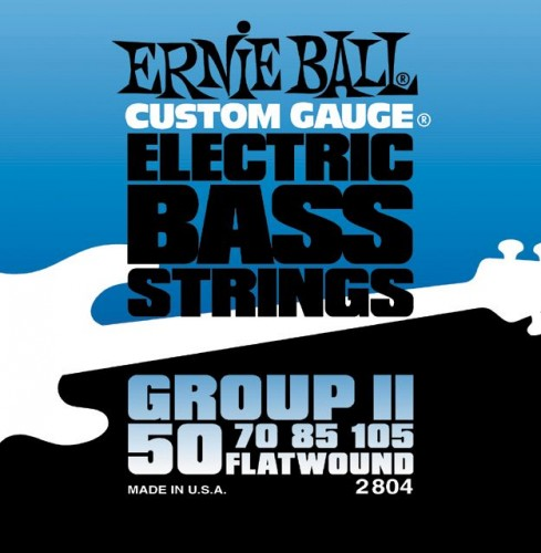 Struny Ernie Ball Flat Wound Group II Electric Bass 50-105 (2804)