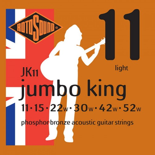 Struny Rotosound Jumbo King Phosphor Bronze Acoustic Light 11-52 (JK11)