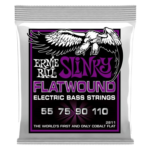 Struny Ernie Ball Power Slinky Cobalt Flatwound Bass 55-110 (2811)