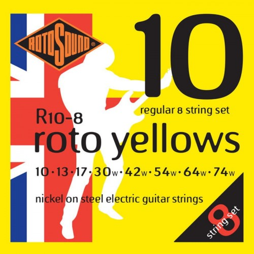 Struny Rotosound Nickel Electric Regular 8-strings 10-74 (R10-8)