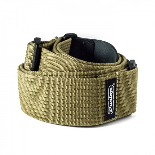 Pasek do gitary Dunlop Ribbed Cotton Olive Green D27-01OL