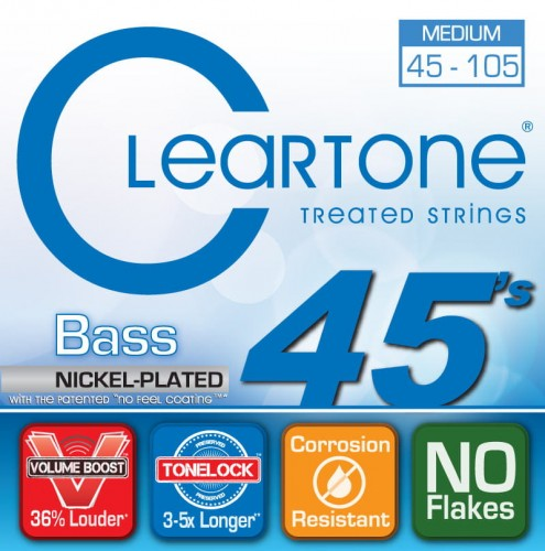 Struny Cleartone Bass Nickel Plated Medium 45-105