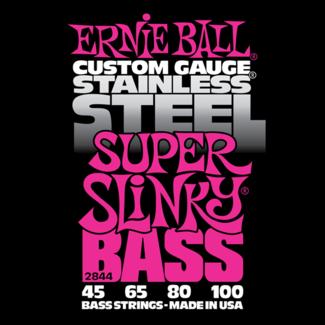 Struny Ernie Ball Stainless Steel Super Slinky Bass 45-100 (2844)