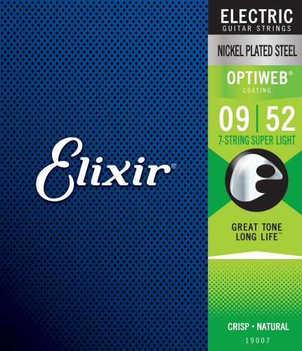 Struny Elixir OptiWeb 9-52 7-String Super Light (19007)