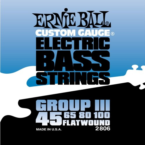 Struny Ernie Ball Flat Wound Group III Electric Bass 45-100 (2806)