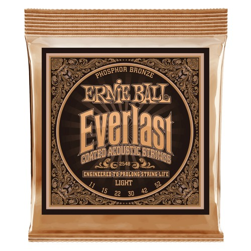 Struny powlekane Everlast Light Coated Phosphor Bronze Acoustic 11-52