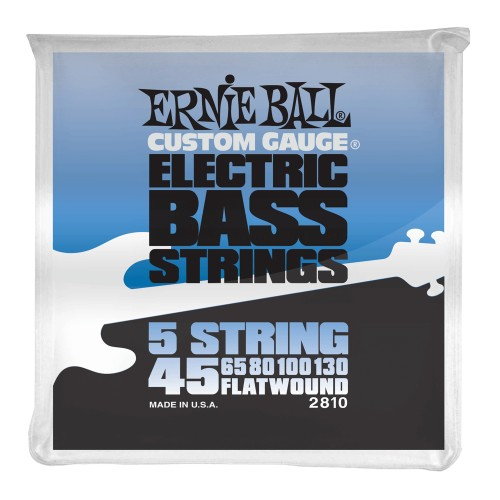 Struny Ernie Ball Flat Wound 5 String Electric Bass 45-130 (2810)