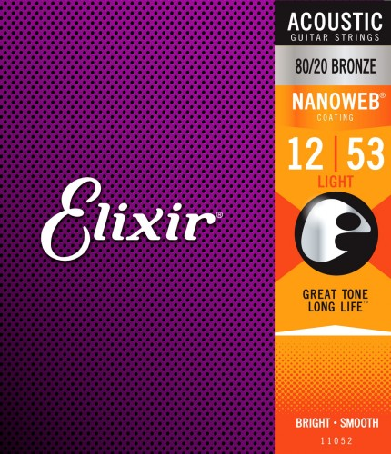 Struny Elixir NanoWeb 80/20 Bronze 12-53 Light (11052)