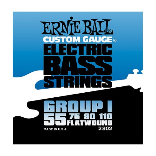 Struny Ernie Ball Flat Wound Group I Electric Bass 55-110 (2802)