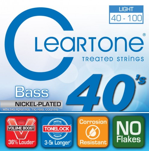 Struny Cleartone Bass Nickel Plated Light 40-100