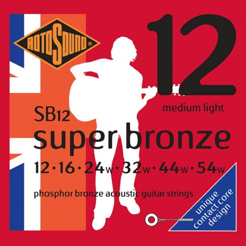 Struny Rotosound Super Bronze Phosphor Bronze Acoustic Medium Light 12-53 (SB12)