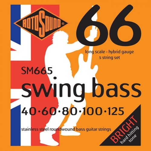 Struny Rotosound Swing Bass Stainless Steel 5-strings 40-125 (SM665)